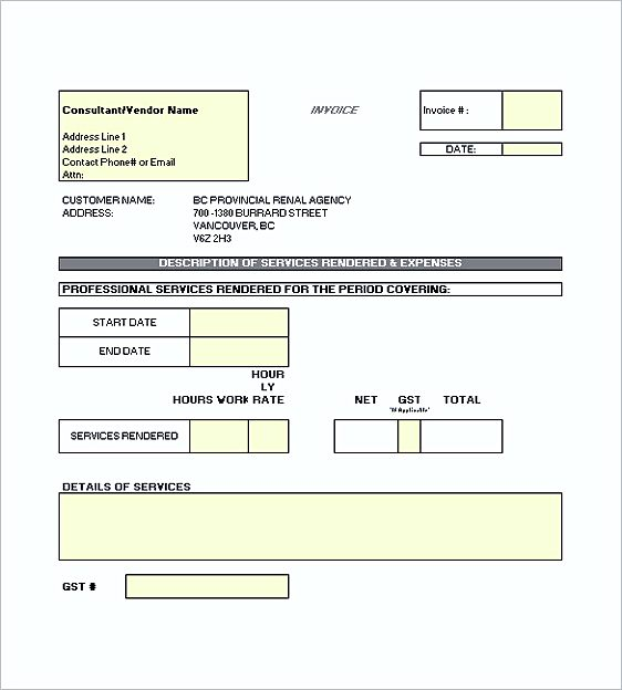 Construction Invoice Template Free | Enwurf.csat.co