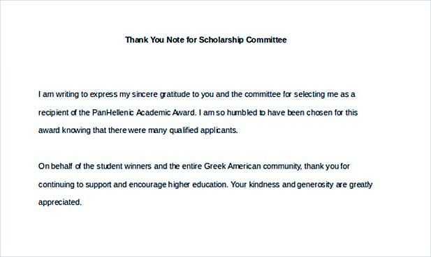 Scholarship Thank You Letter for Further Gratitude - Award Thank You Letter