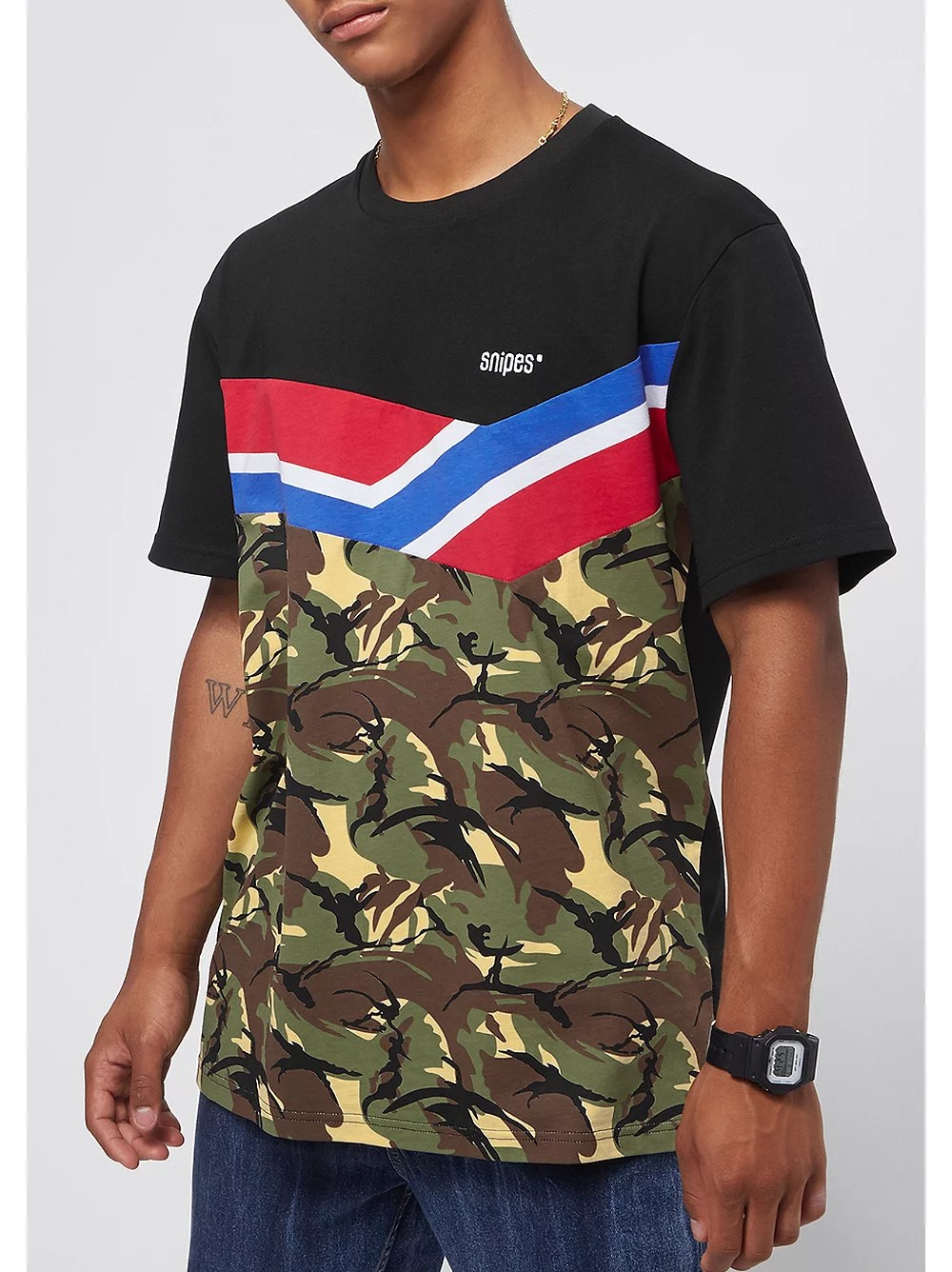 Camouflage Bettwäsche Block Chest Logo Black Camo Red Blue