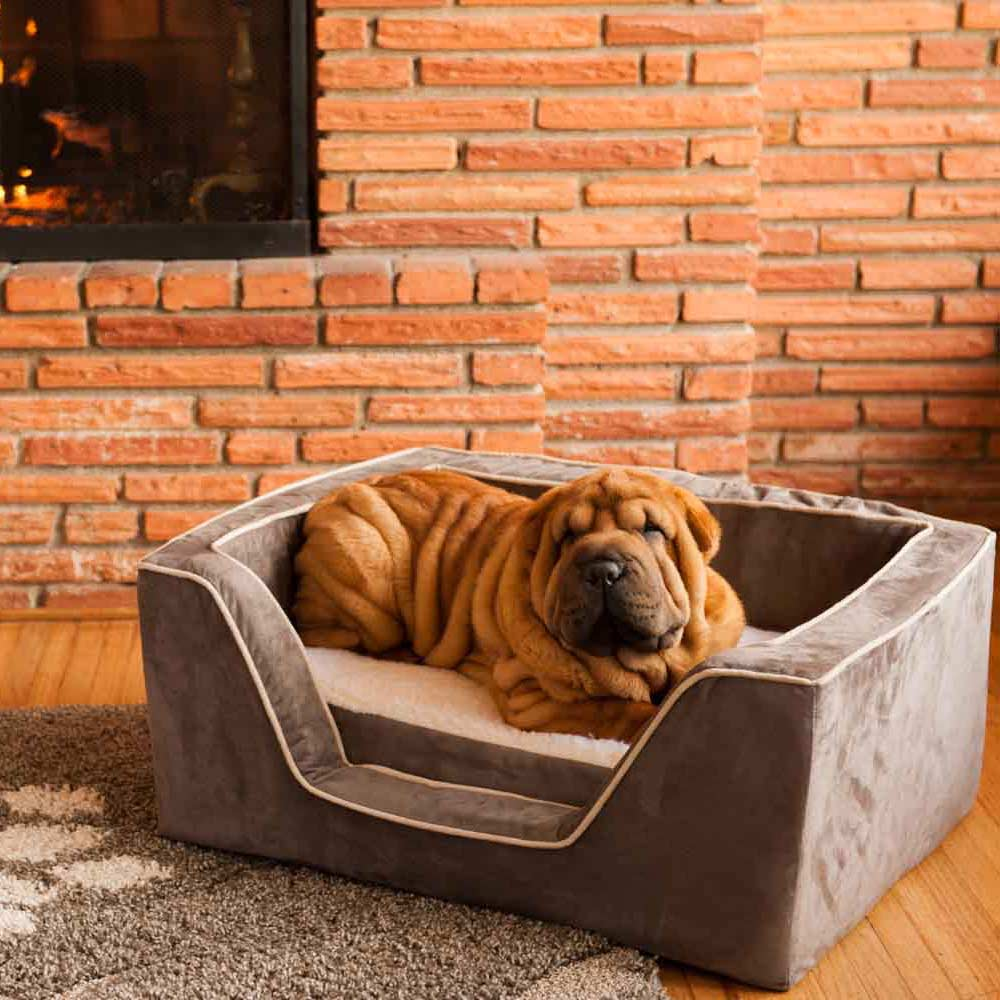 Dog Beds Pet Luxury Square Dog Bed With Memory Foam