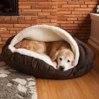 Snoozer Luxury Cozy Cave Dog Bed | 28 Colors/Fabrics | 3 Sizes