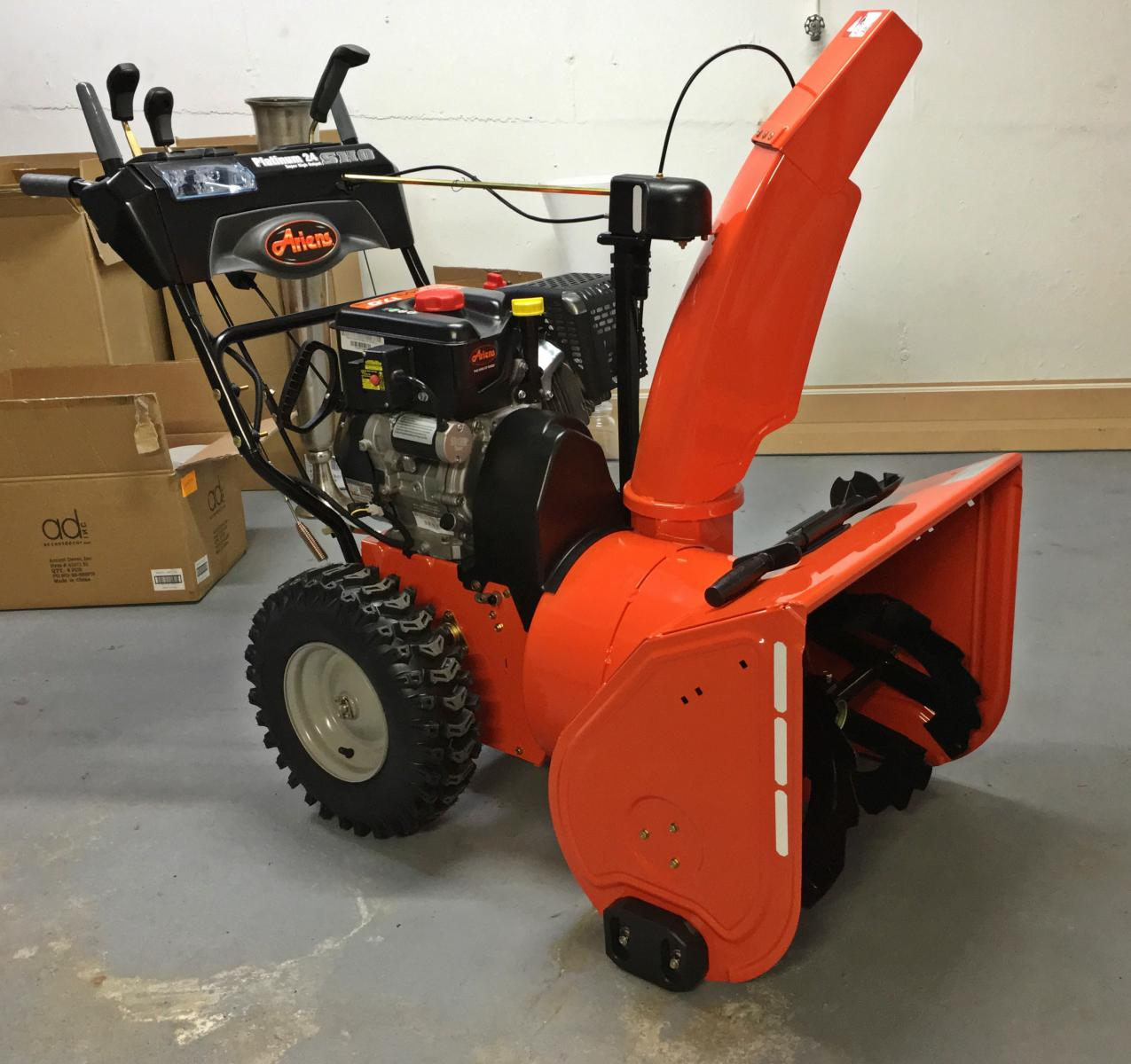 Got My Ariens Ready For Winter Snowblower Forum Snow Blower Forums - Ariens Snow Thrower
