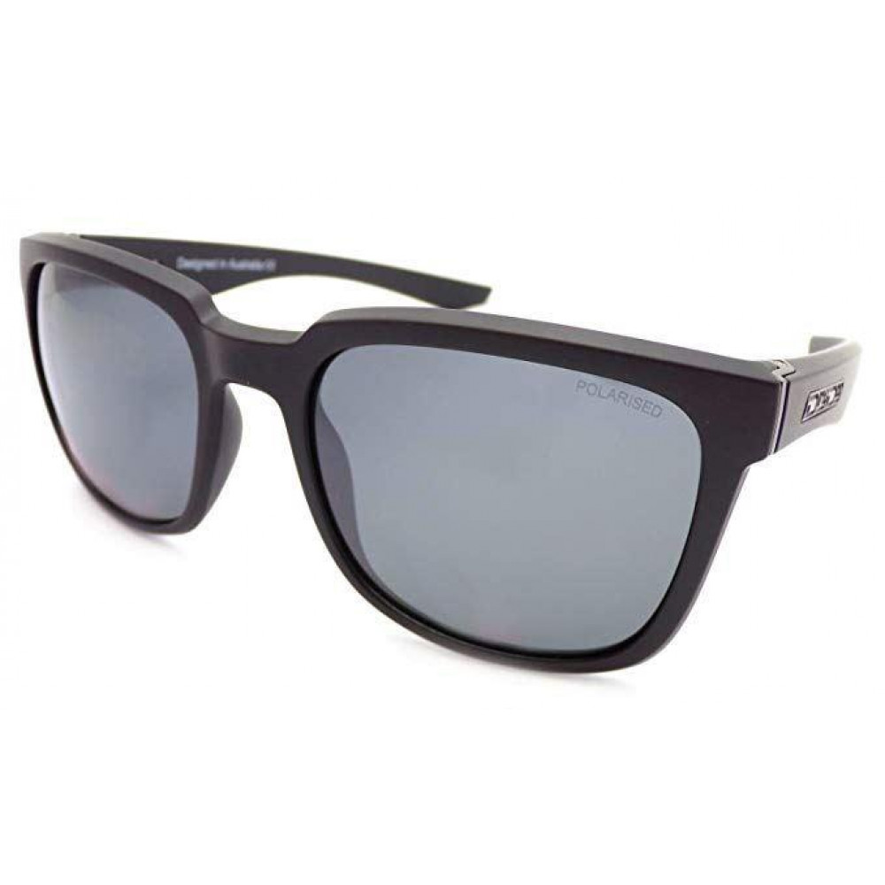 Mirror Frame Glasses Dirty Dog Blade Sunglasses Matt Black Grey Mirror Polarised Lens