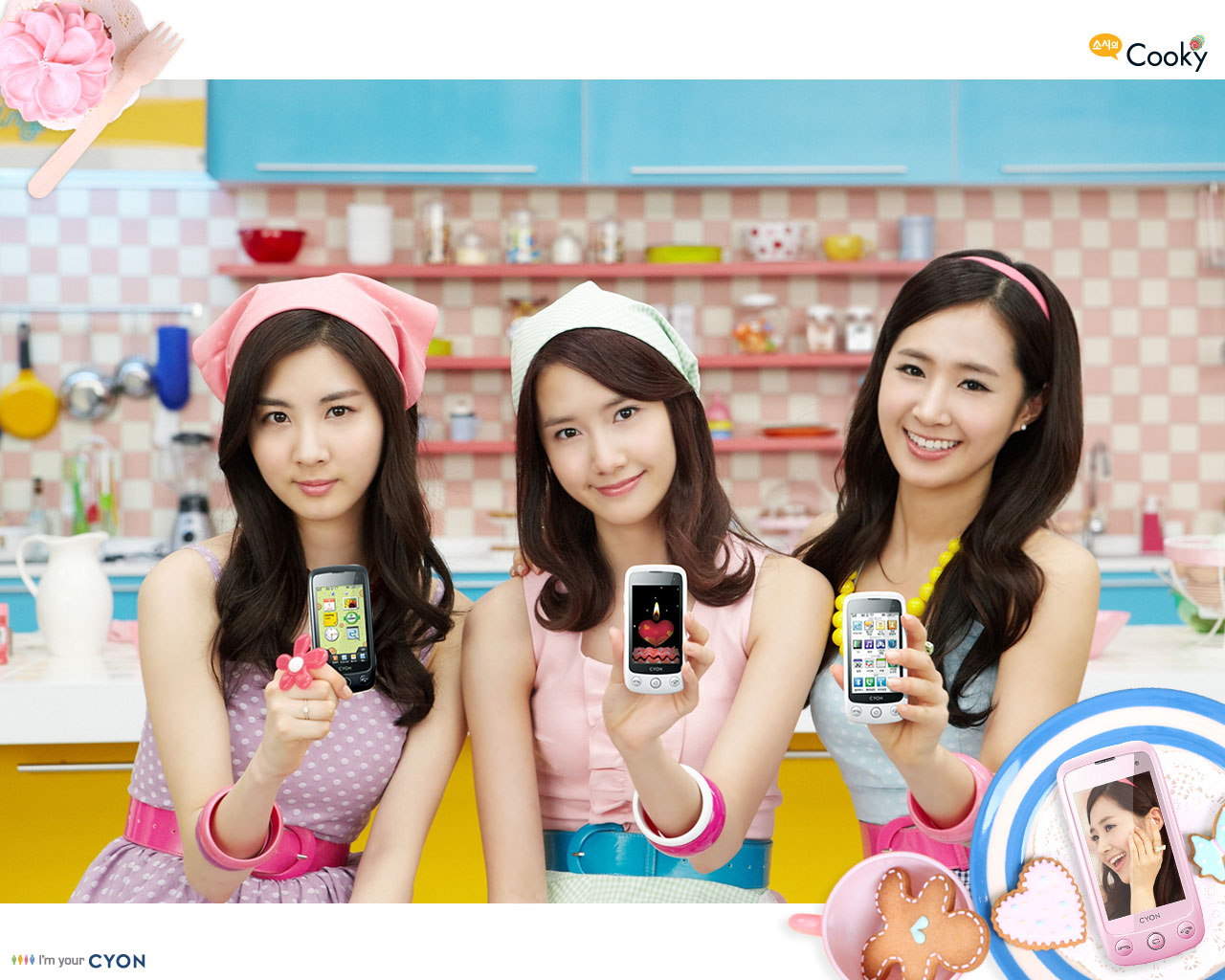 Snsd Lg 3d Tv Wallpaper Lg Cyon Cooky Wallpapers Snsd Pics
