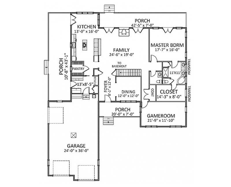 styled country custom farmhouse home square feet islands story house plan custom farmhouse plans