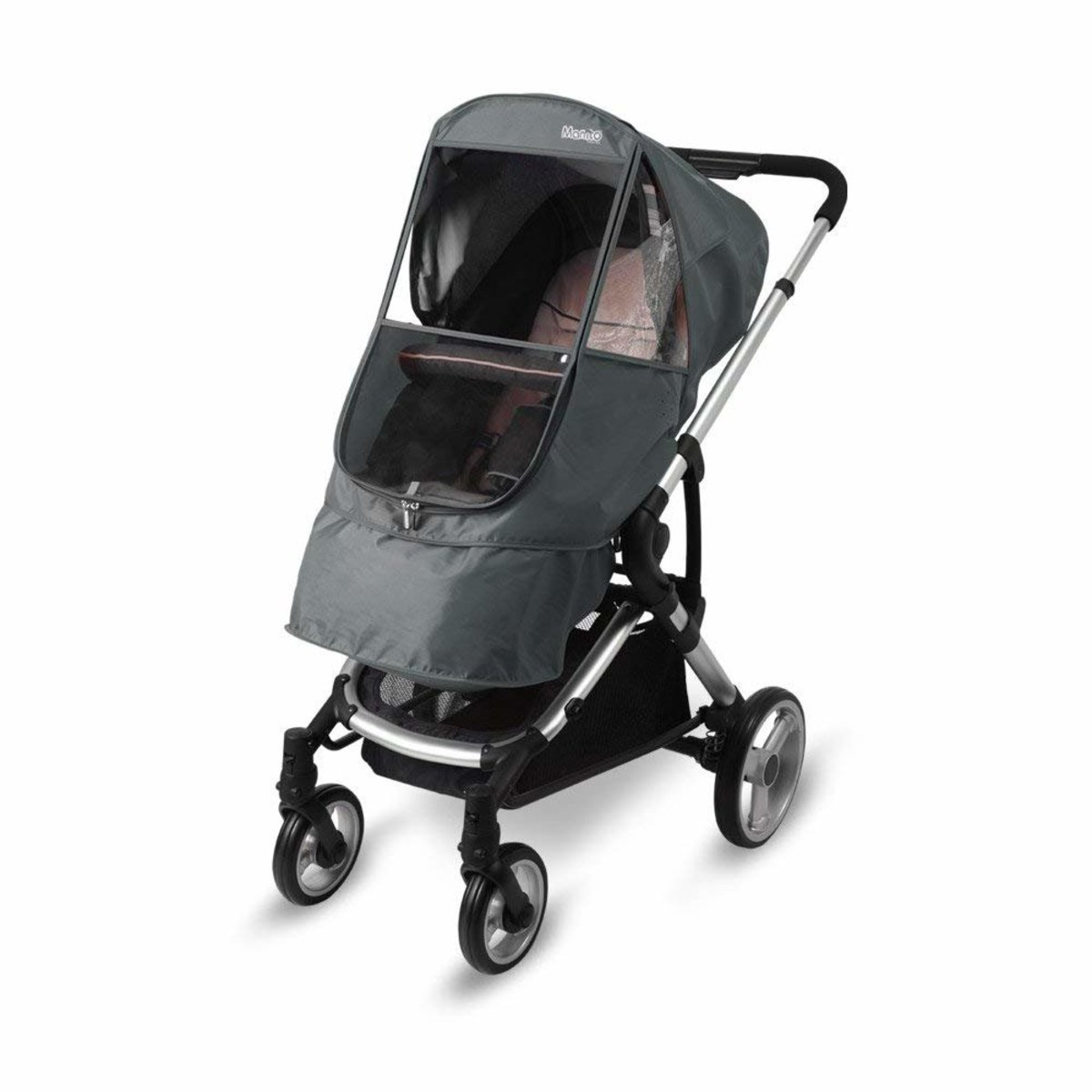 Jogging Stroller Weather Shield Manito Elegance Beta Stroller Weather Shield Grey