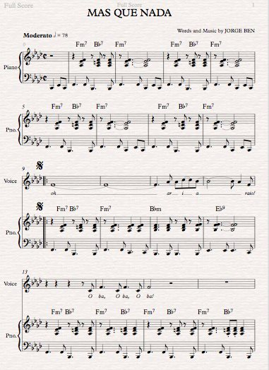 Ann-Marie Atkins - Sample sheet music for vocal line and piano part