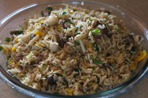 Medium Of Mushroom Fried Rice