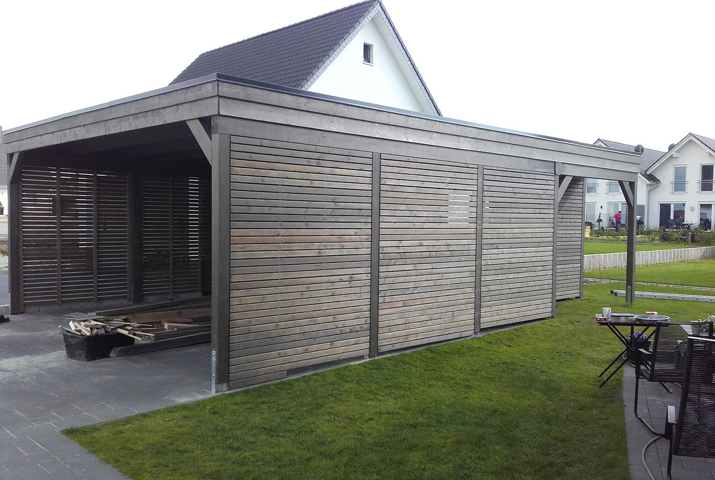 Carport Abverkauf Rundholz Carport Top Berdachung With Rundholz Carport Trendy