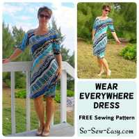 Easy Dress Pattern - Free 'Wear Everywhere' Knit Dress