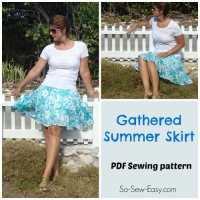 Gathered Summer Skirt - free skirt pattern