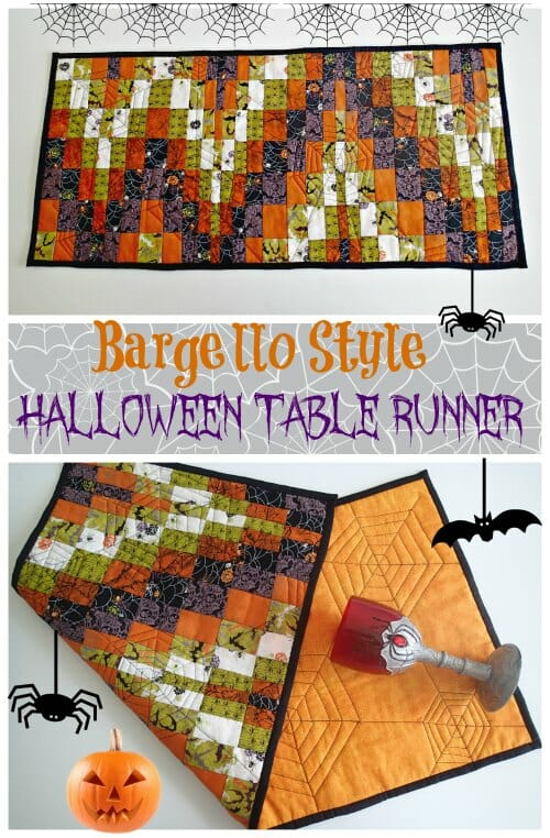Bargello style quilted halloween table runner great idea to try out