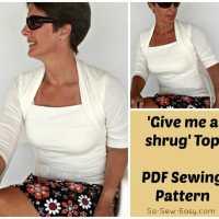 'Give me a shrug' Top pattern - POTM