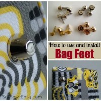 How to install bag feet - 2 styles