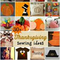 30+ Thanksgiving sewing ideas
