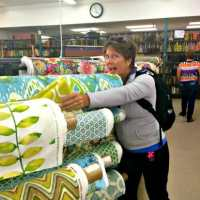 I went to a REAL fabric shop - with virtual friends