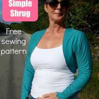 Free shrug pattern - Sew A So Simple Shrug