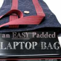 How to sew an easy padded laptop bag