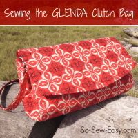 Sewing the Glenda Clutch Bag from Swoon Patterns