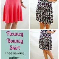 Free skirt pattern - The Flouncy Bouncy Skirt
