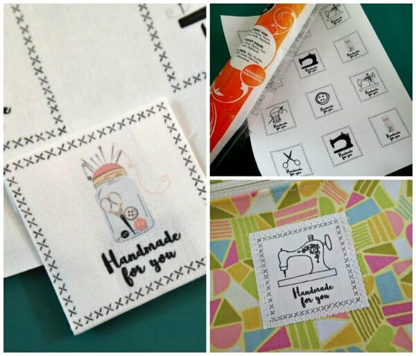 Handmade For You Printable Fabric Labels - So Sew Easy