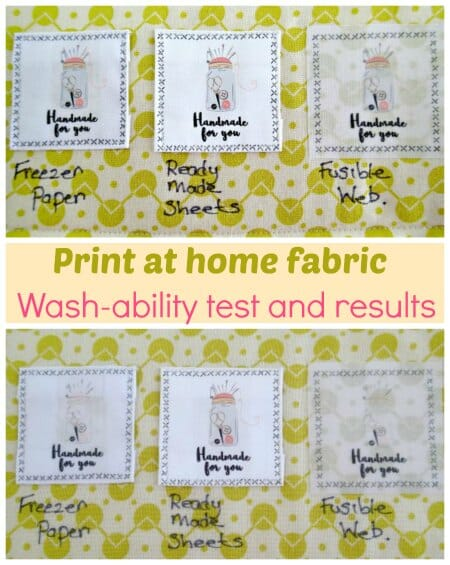 Printing on fabric - washing and fading - So Sew Easy