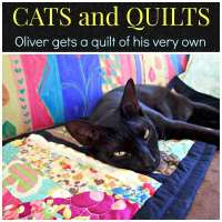 Oliver gets a quilt of his very own