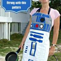 R2D2 style apron pattern - sew your own droid!