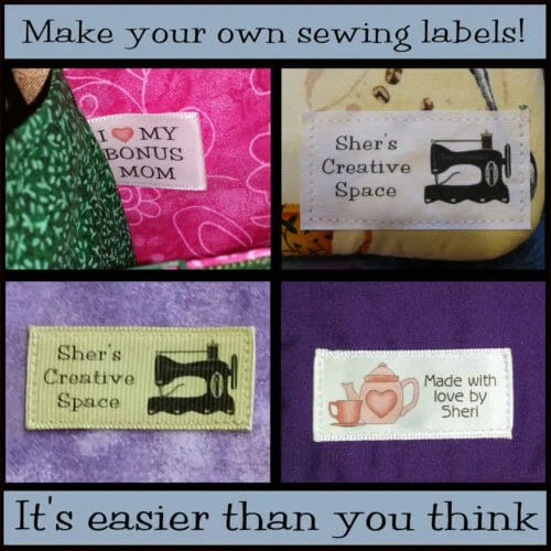 Yes! You CAN make professional looking custom sewing labels! - So