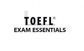 TOEFL EXAM ESSENTIALS Book cover