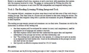 TOEFL iBT Writing Sample Responses