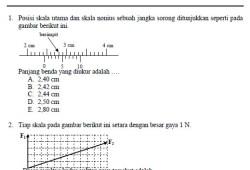 Soal Latihan Fisika SMA beserta Pembahasannya