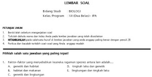 Soal Tryout UN SMA IPA