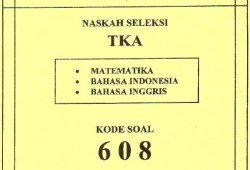 Soal Seleksi Ujian Masuk Universitas Padjadjaran 2008