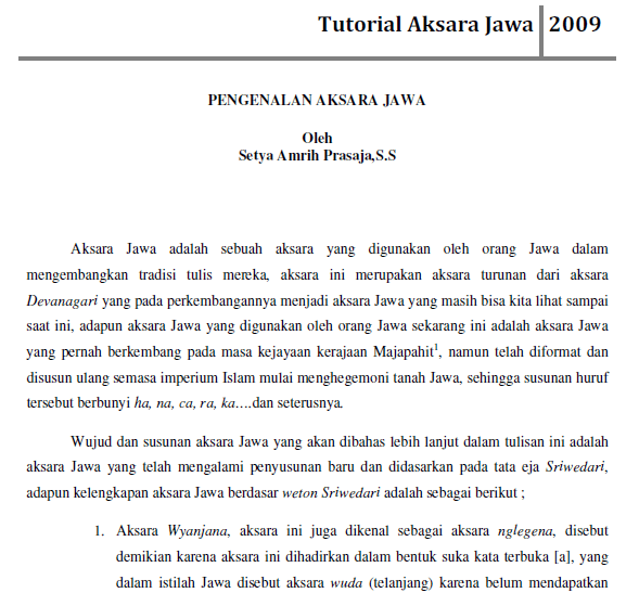 Tutorial Aksara Jawa Bank Soal Ujian