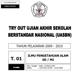 TryOut UASBN IPA SD 2010