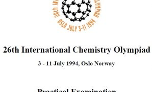 Soal 26th International Chemistry Olimpiad