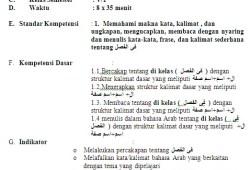 RPP Bahasa Arab SD/MI Kelas 1-6