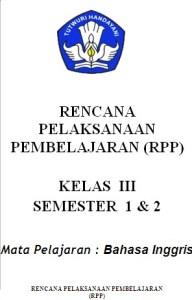 RPP bahasa Inggris SD