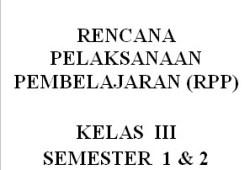 RPP Bahasa Inggris SD/MI Kelas 1-6