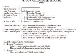 RPP Pendidikan Agama Islam SD/MI Kelas 1-6