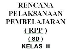 RPP Pendidikan Kewarganegaraan SD/MI kelas 1-6