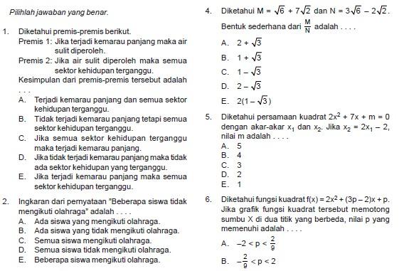 Soal Bahasa Indonesia Kelas 6 Sesuai Kisi Kisi 2016