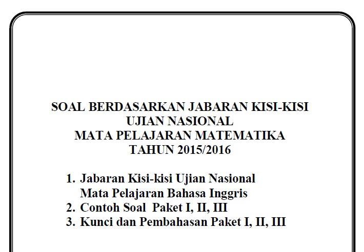 Soal Latihan Un Smp 2016 Lengkap Paket Ii Ii Dan Iii Jawaban Soalujian Net