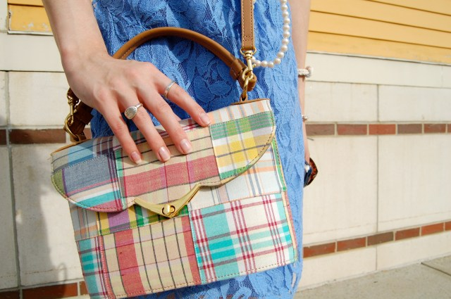plaid preppy purse