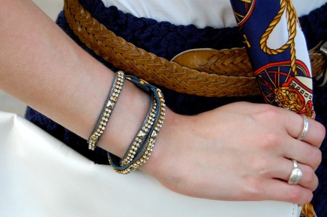 navy wrap bracelet