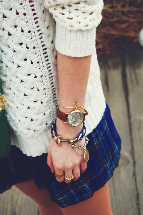 plaid chiffon skirt