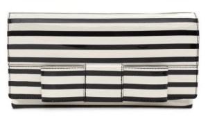 kate spade stripe bow clutch