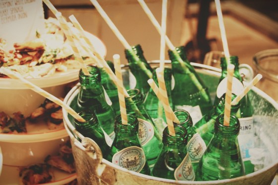 striped straws perrier