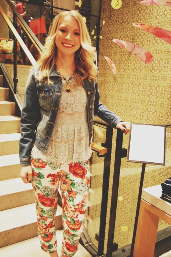 anthropologie floral pants